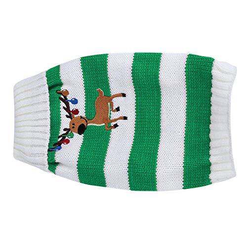 Suéter de moda para mascotas, abrigo informal para perros, para decoración de mascotas, para vacaciones y ocasiones especiales,(green, M)