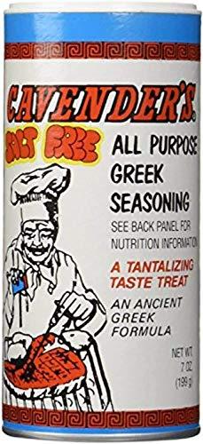 Cavender s Greek Seasoning No Salt, 7 Ounces   (Pack of 2)