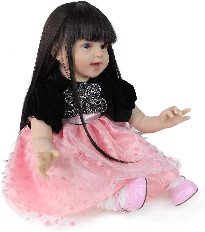 tienda de venta 55 cm NPK baby doll cuerpo grande vinilo vinilo vinilo de silicona hecho a mano real rebote juguete de la niña boca magnética hermosa  todos los bienes son especiales