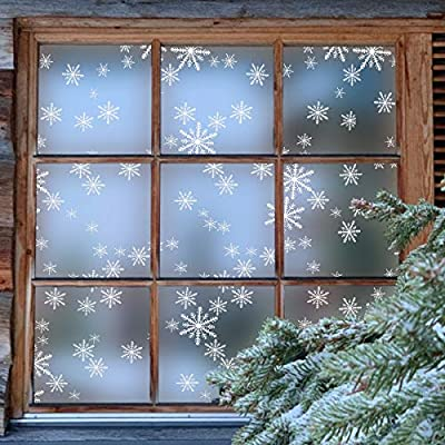 Coavas Window Film Snowflake Frosted Glass Film...