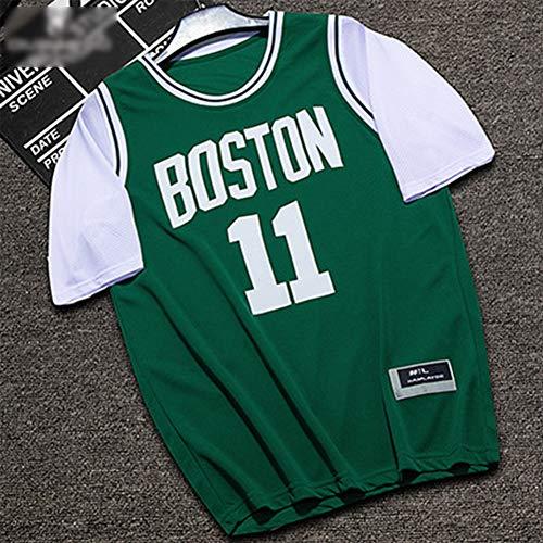 Z/A Brooklyn Nets Kyrie Irving # 11 Basketball Uniformen Student Wettbewerb Ausbildung Uniformen Atmungs Trikot,Grün,L
