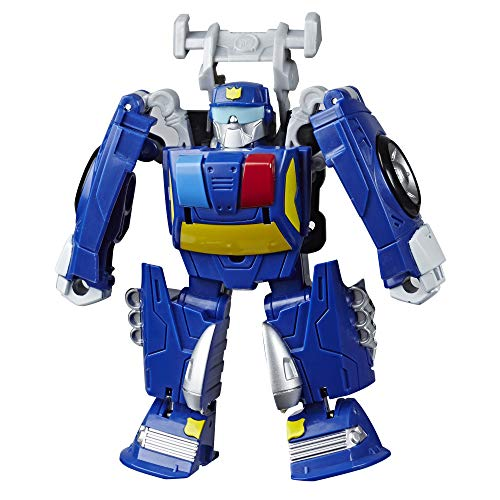 Transformers Playskool Heroes Rescue Bots Academy Chase The Police-Bot Converting Toy, 4.5' Action Figure, Toys for Kids Ages 3 & Up