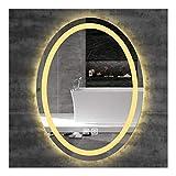 MTFZD Badspiegel mit Beleuchtung Intelligente Frameless Doppel Noten-Schalter wasserdichtes warmes...