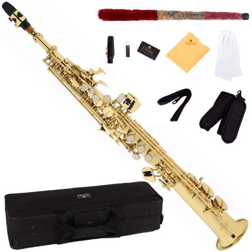 Cecilio SS-280 - Saxofón soprano (para nivel principiante), color dorado