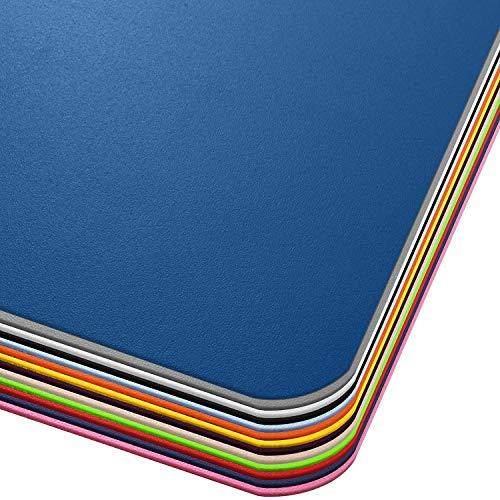Office Marshal® Bodenschutzmatte in Trendfarben | 75 x 120 cm für Hartböden | ohne schädliche Weichmacher und PVC | Größe und viele Farben zur Auswahl (Dunkelblau)