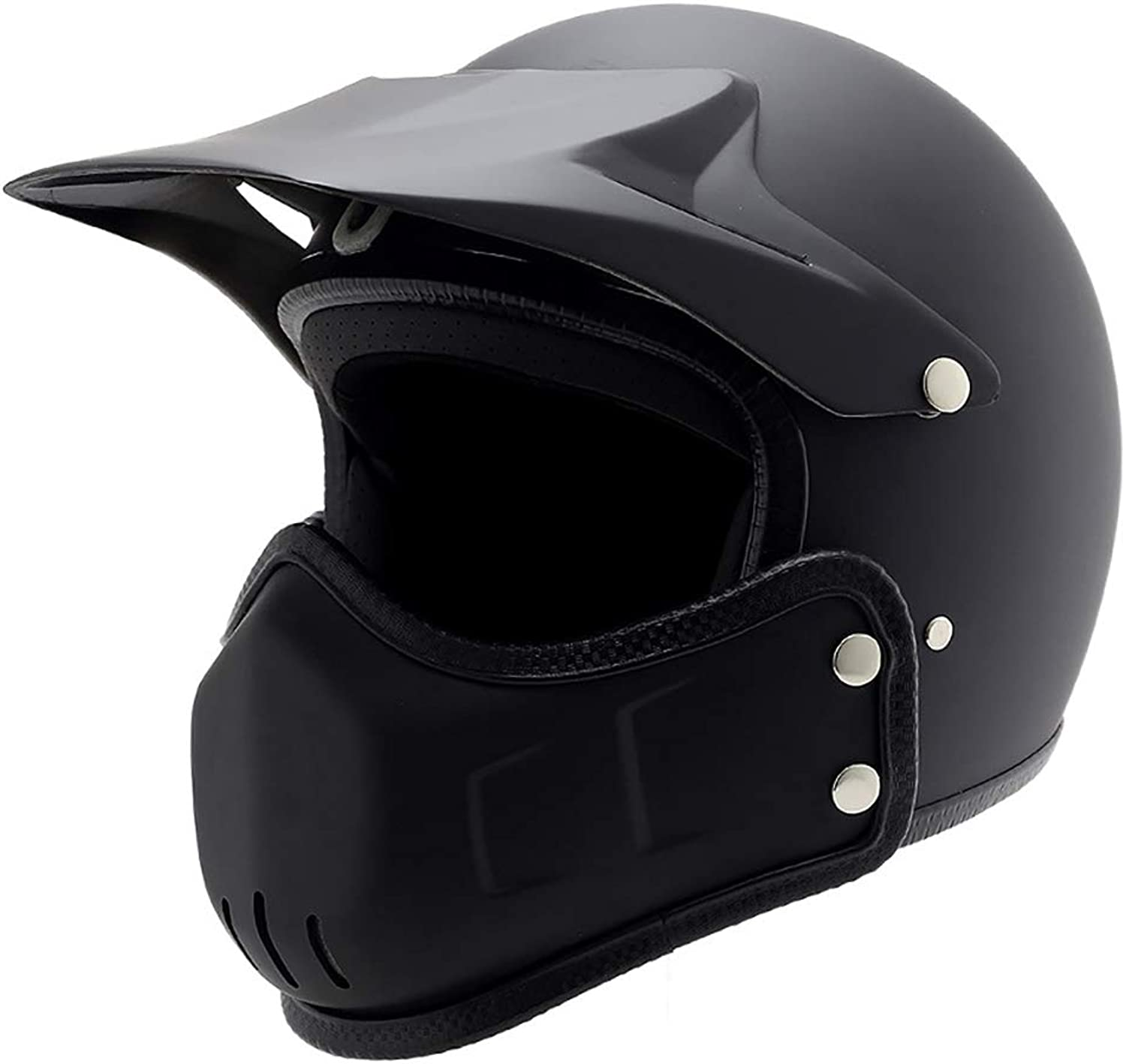 OffRoad Helmet Retro Locomotive 3 4 Full Face Helmet Personality Riding Head Predection Helmet