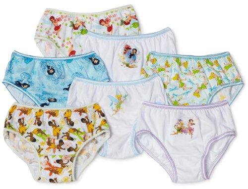 Handcraft Little Girls'  Tinkerbell 7 Pack Underwear, Multi, 4