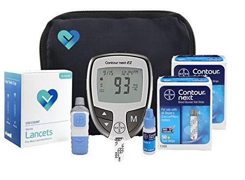 Contour NEXT EZ Diabetes Testing Kit | Contour NEXT EZ Blood Glucose...