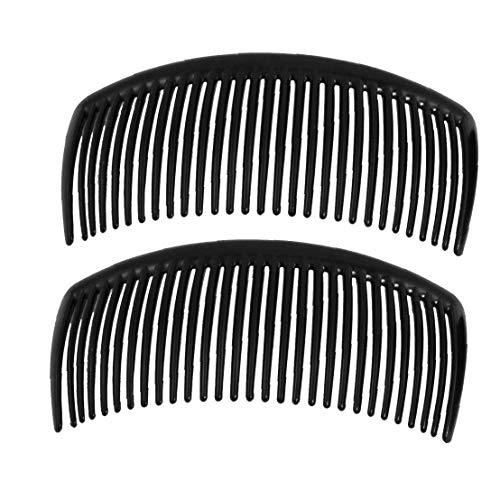 10.5x5cm Avec Deux Clips Rétro Peigne Toothpurpose Maison Fille Side Cheveux Noirs Ornements