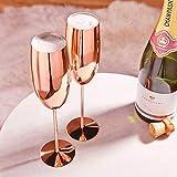 Beautify Sektgläser Champagnerflöten/Gläser Kupfer 2 Stück - Bruchsicherer Edelstahl Sektkelche - 9