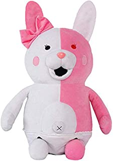 futurecos Danganronpa V3 Monomi Rabbit Plush Doll Toy Pink 3D Stuffed Animal Plush Toys Decorative Throw Pillows Home Accents Gift for Girls Girlfriends 25CM(9.8inch)
