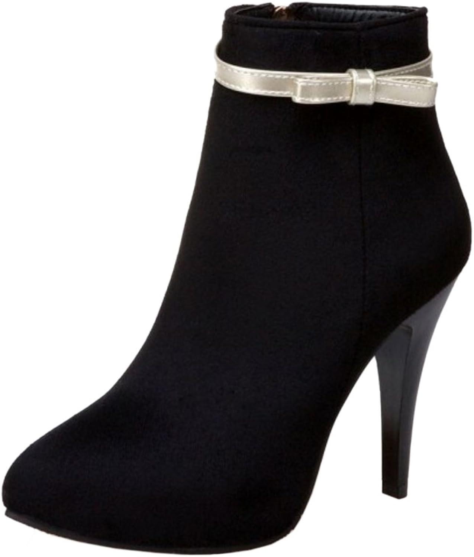 KemeKiss Women Stylish Winter Warm Wedding Short Boots with Sweet Bowknot