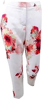 Calvin Klein Women's Petite Floral-Print Ankle Pants