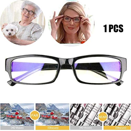 HAJKSDS Verstellbare Lesebrille, Automatische Anpassung Der Optischen Lesung Leichte Brillen, Einstellbare Optische Gläser Für Kurzsichtige, Weitsichtige 1Pcs