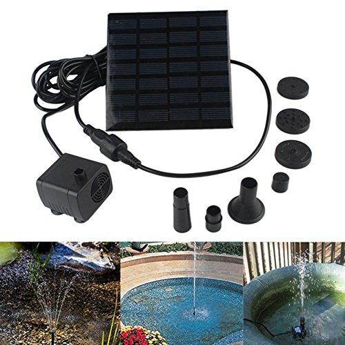 Solarbetriebene, unter Wasser verwendbare Wasserpumpe mit 1,4Watt, als Gartenbrunnen und zur Bewässerung Ihrer Pflanzen
