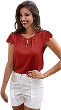 UOKNICE Women O-Neck Sleeveless Pure Color Vest Chiffon Fold Business Tops T-Shirt Blouse
