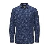 JACK & JONES VINTAGE JJVCARDIFF SHIRT L/S ONE POCKET, Camisa Hombre, Azul (Provincial Blue), Medium
