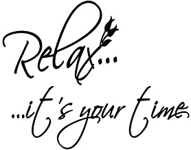 Relax It's Your Time Bathroom Vinyl Wall Art Stickers Large Quotes Removable Letters design quotes