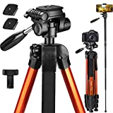 Victiv 72-inch Tall Tripod for Camera, Durable Aluminum Stand...