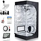 CDMALL Grow Tent Room Complete Kit 20'x20'x48' Kit Hydroponic Growing System Indoor Plants Growing Dark Room + Hydroponics Growing Setup Accessories (20'x20'x48' Kit)