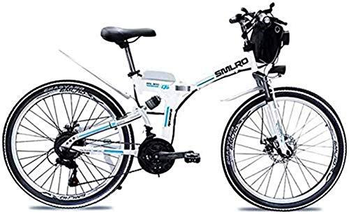 Bicicletas Eléctricas, Batería de litio de 48V 8AH / 10AH / 15AHL Bicicleta plegable de MTB Mountain Bike E-Bici 21 de velocidad de bicicletas Inteligencia bicicleta eléctrica con 350W de motor sin es