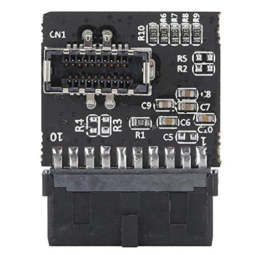 USB 3.0 - Adaptador de extensión Tipo E, USB 3.0 - Enchufe Tipo E con Chip, Adaptador de extensión de Montaje en Panel Convertidor de encabezado de Placa Base con hasta 5 GBit/s