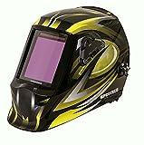 Proteco-Werkzeug® P990 - Casco de soldadura automático (100 x 98 mm, incluye 5 cristales de repuesto exteriores)