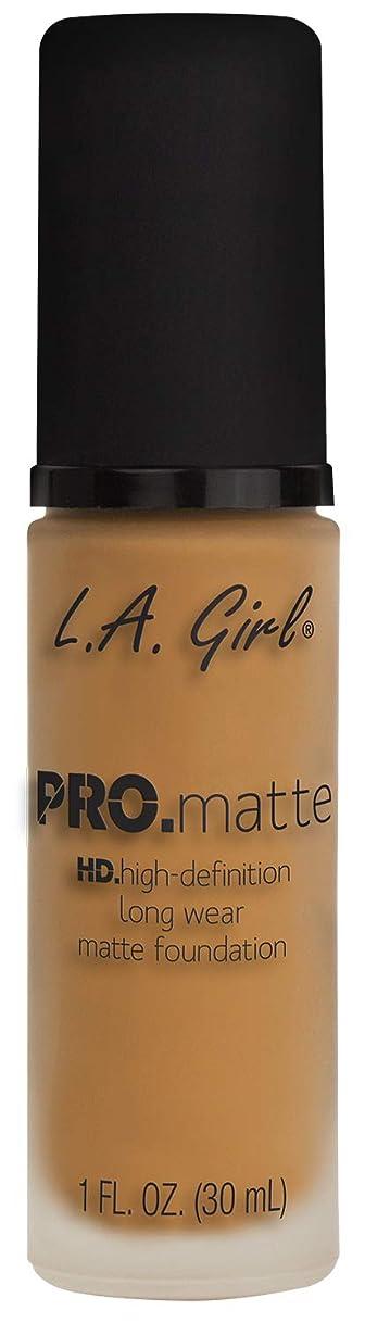 開発湿原やむを得ないL.A. GIRL Pro Matte Foundation - Espresso (並行輸入品)