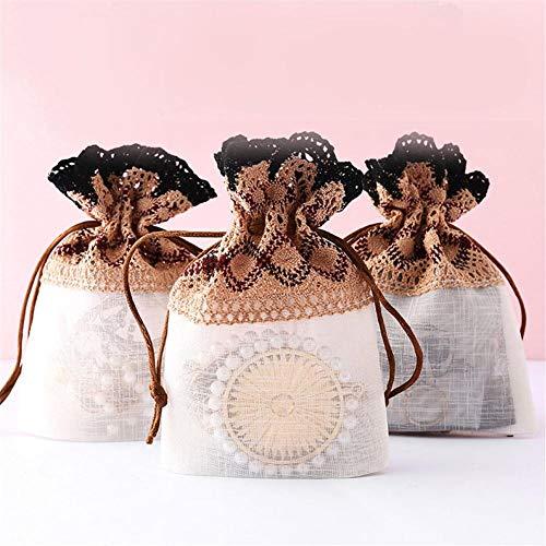 ADSIKOOJF Cadeautas met trekkoord Sieraden Ring Oorbel Snoepjes Opbergtas Kerstboom Cadeautas Voor Bruiloft Verjaardag DIY Craft Decor