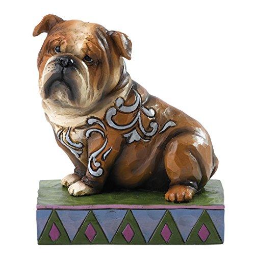 """Heartwood Creek """"Hogan–Figura Decorativa, diseño de Bulldog Inglés"""