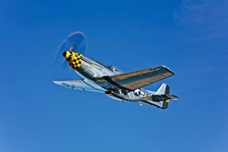 Posterazzi PSTSGR100176MLARGE A North American P-51D Mustang in flight near Chino California Poster Print, 34 x 22