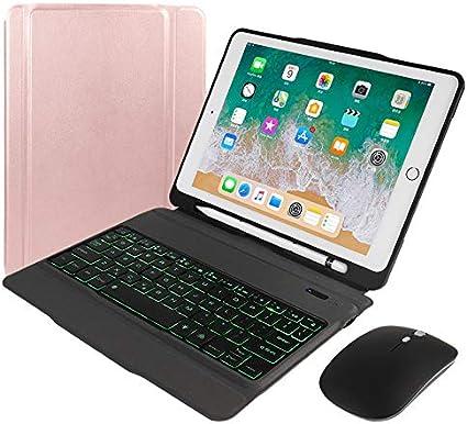 Funda de teclado para iPad 9.7 para iPad 2018 6ª generación ...
