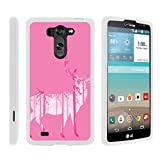 TurtleArmor   Compatible with LG G Vista Case   LG G Pro 2 Lite Case [Slim Duo] Slim Light Compact 2 Piece Hard Snap On Case Matte Animal on White - Pink Deer Forest