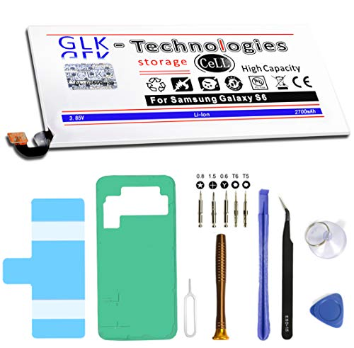 High Power Ersatzakku für Samsung Galaxy S6 SM-G920F / EB-BG920ABE| Original GLK-Technologies Battery | accu | 2700 mAh Akku | inkl. Werkzeug Set Kit