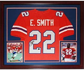 Emmitt Smith Autographed Signed Auto Florida Gators Orange #22 Deluxe Framed Jersey Smith Holo - Certified Authentic