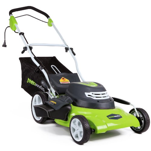 Greenworks 12 Amp 20-Inch 3-in-1Electric Corded Lawn Mower, 25022