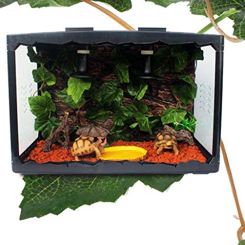 Yanhonin Decor terrario, Vid Hojas Artificial Planta Decoración para Reptiles Anfibios