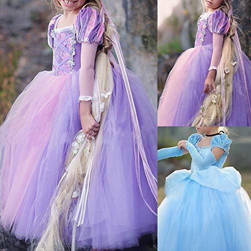 Kids Meisje Halloween Feest Formele Fancy Jurk Tule Jurk Prinses Cosplay Kostuum - Paars 110cm