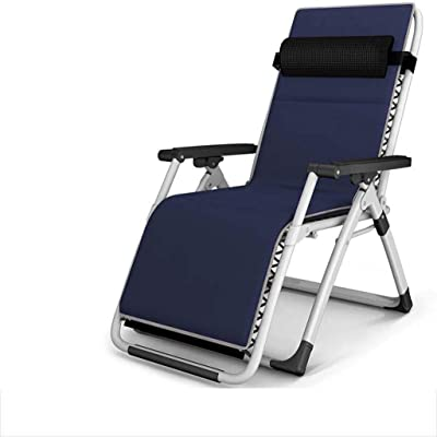 Yhz@Recliner Folding Lunch Break Siesta Bed Multi-Function Home Office Portable Beach Leisure Chair - Iron Alloy Pipe Rack - Load Capacity 200kg