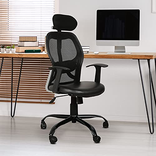 TIMBER CHEESE Ergonomic MESH Executive Chair in Black (with Warranty, Make in India) (HIGH Back)