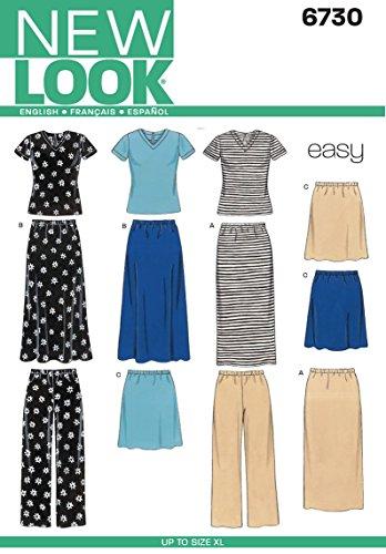 New Look NL6730 Patron de Couture Jupe + Pantalon + T-Shirt 22 x 15 cm
