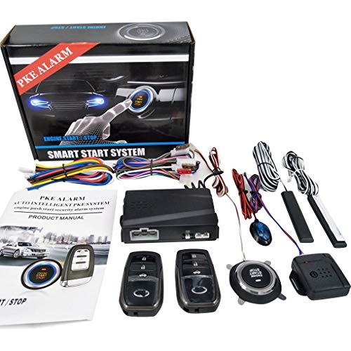 PKE Motor Start Alarmsysteem Automotor Druk Startknop Stop RFID Lock Keyless Entry Startonderbreker