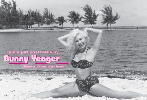 Bikini Girl Postcards by Bunny Yeager: Shore Wish You Were Here!