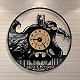 Reloj de pared de Batman disco de vinilo del dormitorio Decoracin