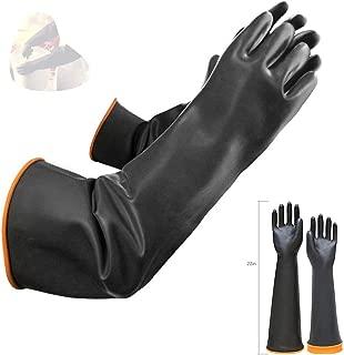 Guantes químicos de látex PPE de goma resistente Seguridad industrial Trabajo Guantes largos de protección Guantes, 22