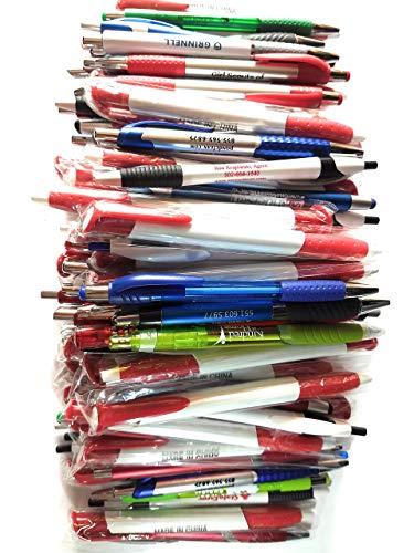 Al por mayor Lote de 100Errata punto de bola bolígrafo de plástico retráctil bolígrafos Mixed