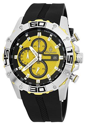 Burgmeister Armbanduhr für Herren mit Analog-Anzeige, Chronograph mit Silikon Armband - Wasserdichte Herrenarmbanduhr mit zeitlosem, schickem Design - klassische Uhr für Männer - BM535-192 Dallas