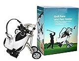 LL-Golf® Portapenne in miniatura Sacca da golf con trolley e 3 mazze da golf perni in diversi colori/regalo