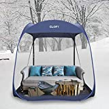 CLOFY Screen Camping Tent with PE Floor Instant Pop Up Screen House Room 360° Screen Room/Canopy Shelter Quick Set Tent for Camping or Family Reunions 7.5' x 7.5' x 7' Canopy Tent