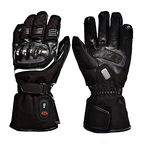 QMJHHW Lithium Battery Heating Gloves Winter Motorcycle Riding Warm Gloves Outdoor Waterproof Electric Heated Gloves